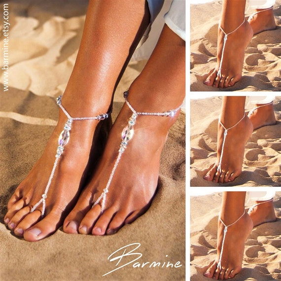 cd50dcc18 Wedding party set Bride jewelry Bridesmaid jewelry Barefoot