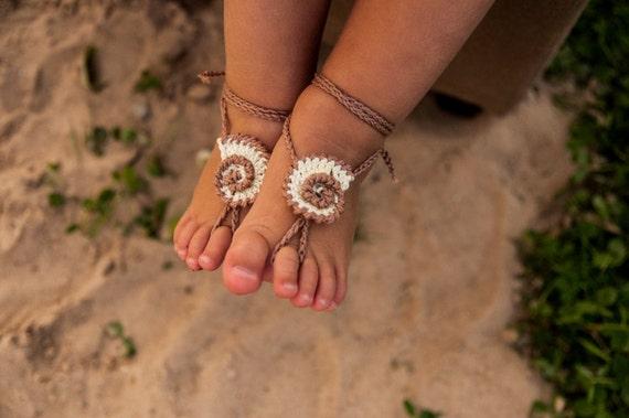 Seashell häkeln Baby barfuss Sandalen Baby Fuß Zubehör Baby | Etsy