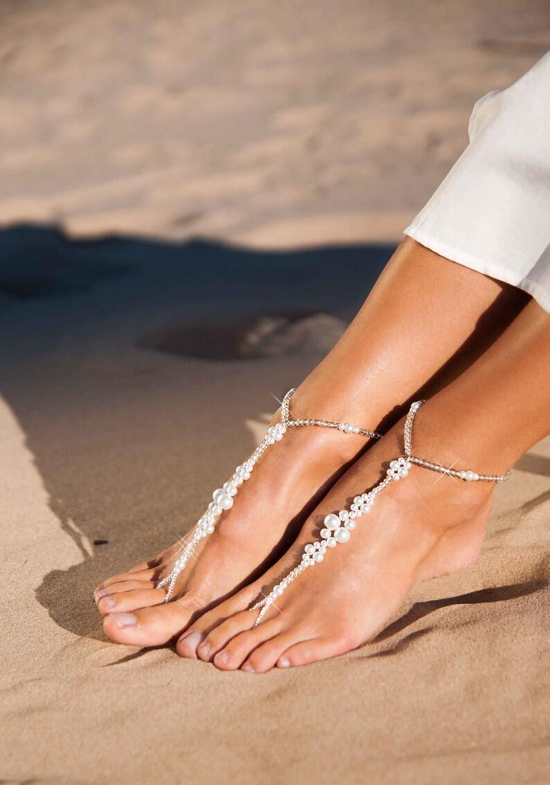 f36512fba Wedding party set Bride jewelry Bridesmaid foot jewelry