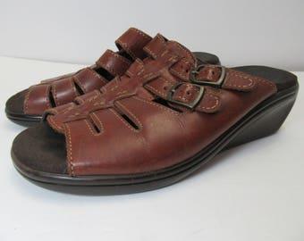 Vintage SAS sandals, sas leather sandals, women's leather shoes