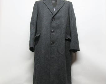 Wool winter coat, wool coat size 42, Made in USA Wool Coat