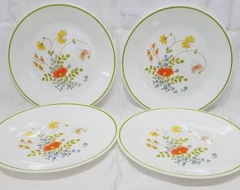 Vintage Corelle Wildflower salad/luncheon plates, set of 4