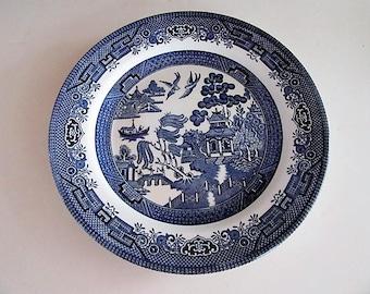 Churchill England Blue Willow dinner plates set of 8 Willow Blue Dinner Plates