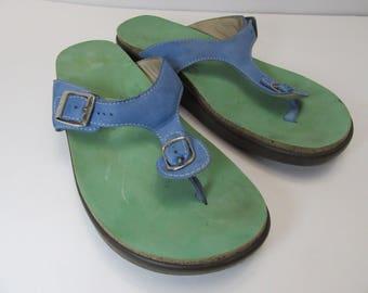 Vintage SAS sandals, sas leather sandals size 10 M