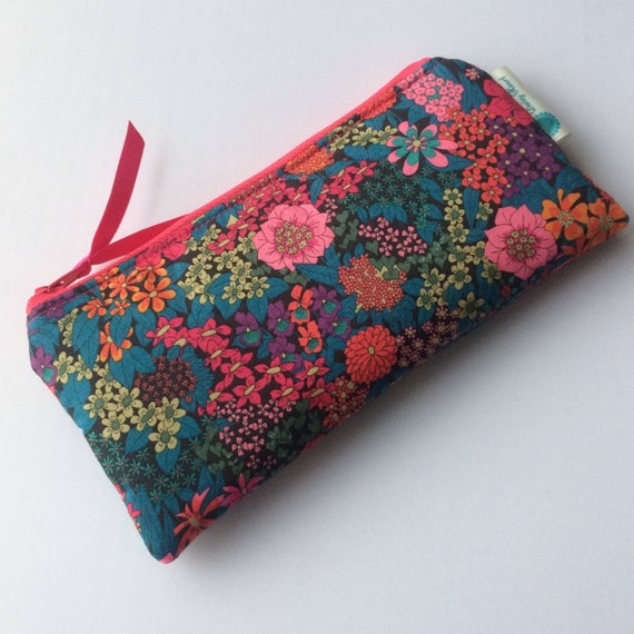Liberty Tana Lawn star fabric Glasses case Spectacles snap pouch Gift idea