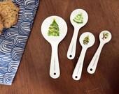 Half Baked Harvest x Etsy Holiday Tree Ceramic Measuring Spoons