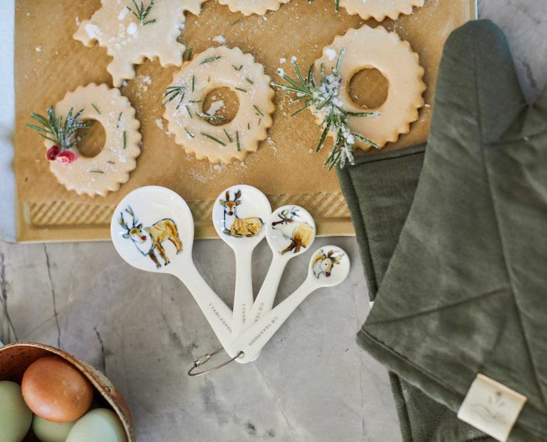 Half Baked Harvest x Etsy Holiday Reindeer Ceramic Measuring image 0