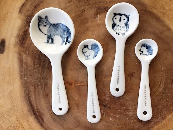 Pond animal ceramic measuring spoons