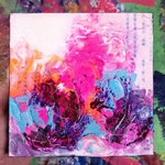 Small Abstract Acrylic Painting Hot Pink Neon Fluorescent Modern Decor Interior Design Canvas Art Modern Bold Statement Expressionism Love
