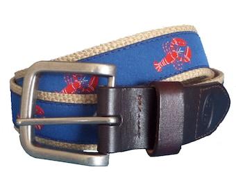 Bean Belts Boys Preppy Lobsters Belt