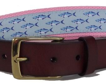 No27 Womens Whales and Starfish Nautical Belt Canvas Belt