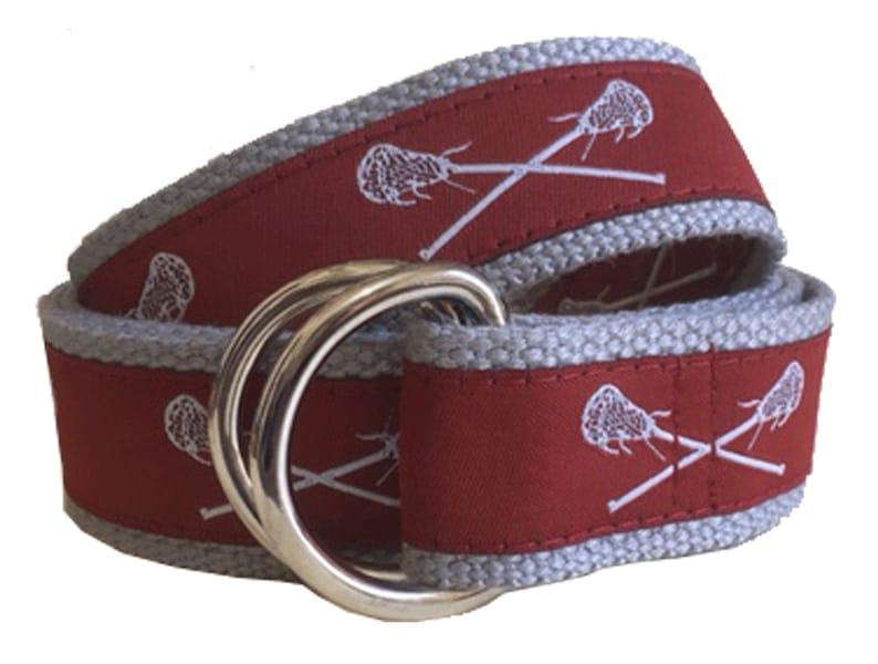 Women and ChildrenMaroon Lacrosse Lacrosse Belt  D-Ring Belt  Canvas Belt  Preppy Webbing Belt for Men