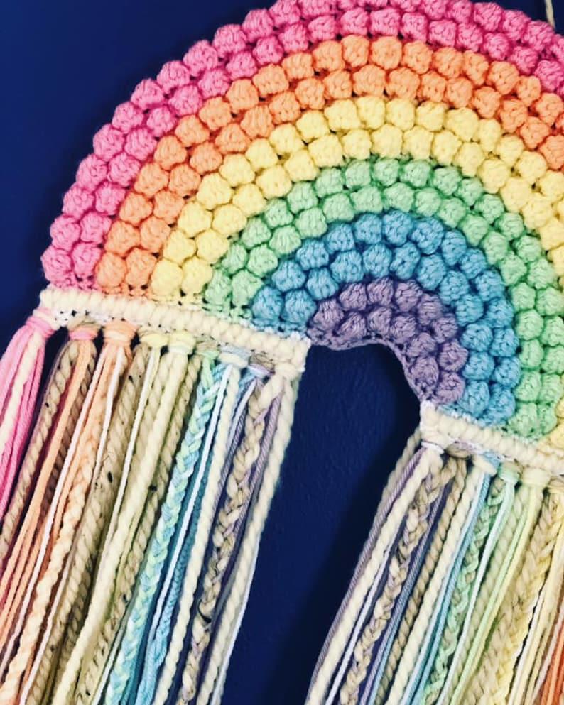 Crochet Rainbow Crochet Pattern Rainbow Macrame Rainbow image 3