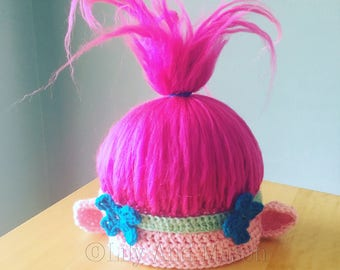 Poppy Troll Hat, PDF Pattern, Poppy, Troll, Troll Hat, Poppy Hat, Trolls Hat, Pink Troll Hat, Princess Poppy, Pink Troll, Character Hat