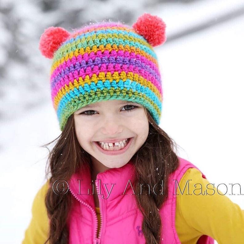 Rainbow Hat Winter Hat Crochet Hat Crochet Pattern Crochet Etsy