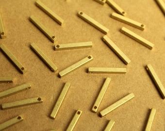 Geometric Raw Brass Connector Raw Brass Link 3 Raw Brass Kita shaped Connector 8x20 mm  RAW-067