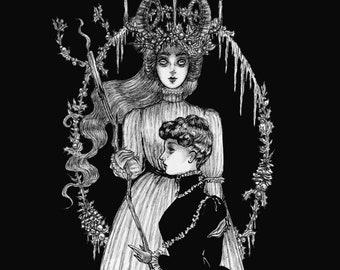 Reserved-fine art print- dark art, victorian, ghost, gothic art, ouija board