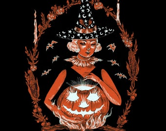 Witching you a Happy Halloween print