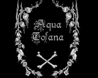 Aqua Tofana- fine art print- gothic art, dark art, ink art, poison, occult art