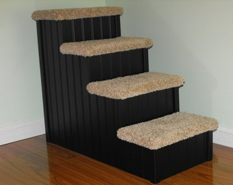 Lovely Dog Steps, 24u2033 High Pet Stair For Pets 5 30 Lbs, Choose Any Color, Dog Steps  For High Beds, Made In USA,