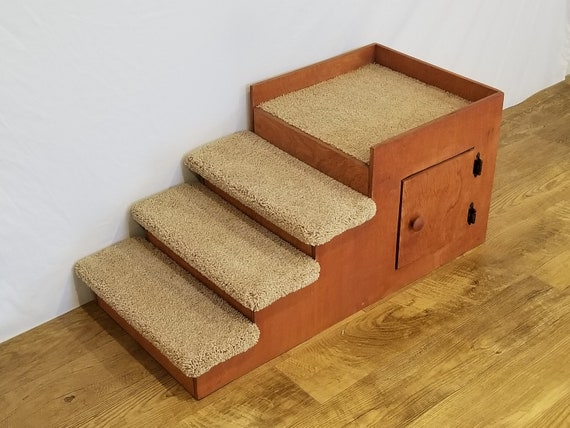 Dog Beds With Stairs 17 High Beside Platform Dog Bed | Etsy
