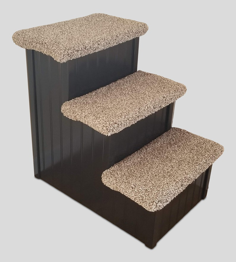 Custom Wood Dog Stairs  For Pets 5-55 Lbs  Choose Any Color image 0