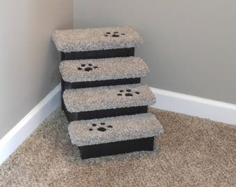 "Pet Stair, 15"" High Pet Step for Dogs 2-15 lbs, Dog Stairs, Hampton Bay Pet Steps, Handmade in USA, Pet Steps, Small Dogs, Best Dog Stairs"