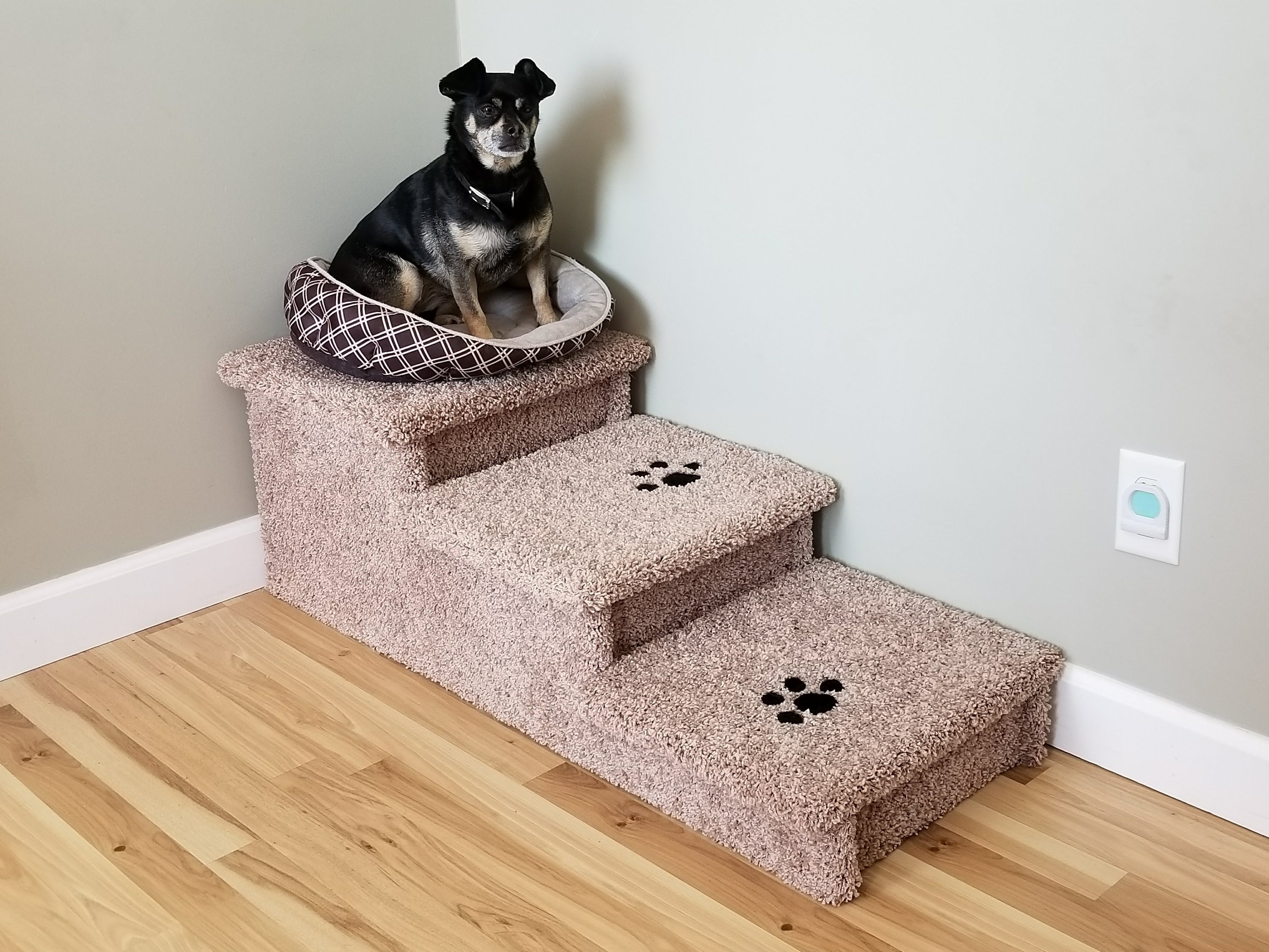 Wobble Free Dog Stair For Big Dogs 5 80 Lbs Sturdy All