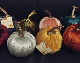 Small Velvet Pumpkins