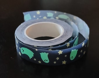 Spoopy Cute Ghosts (Glow in the Dark) Washi Tape | Fall Washi, Bullet journal, Planner tape, Halloween, Spooky, GITD, spooky squad