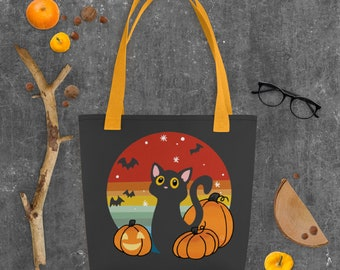 Chat d'Halloween Tote bag