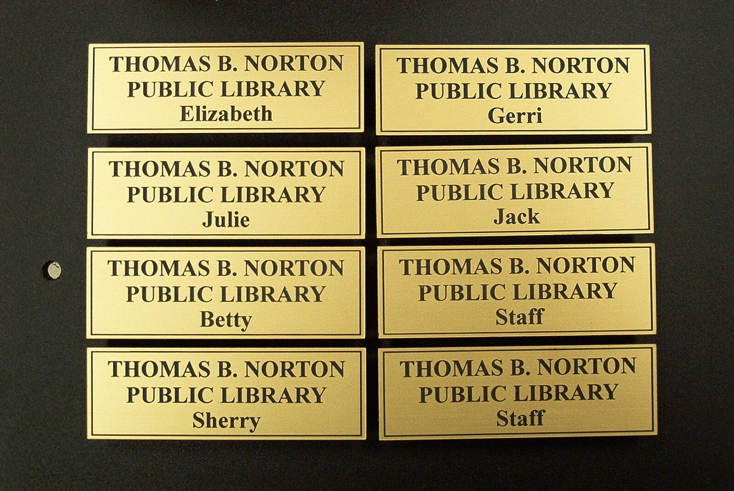 LIBRARY - Name Tags 1 x 3 with triple magnet back