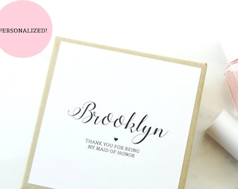 Thank You For Being My Bridesmaid Box | Bridesmaid Gifts | Thank You Box (Accessories not included) | Personalized Gift Box