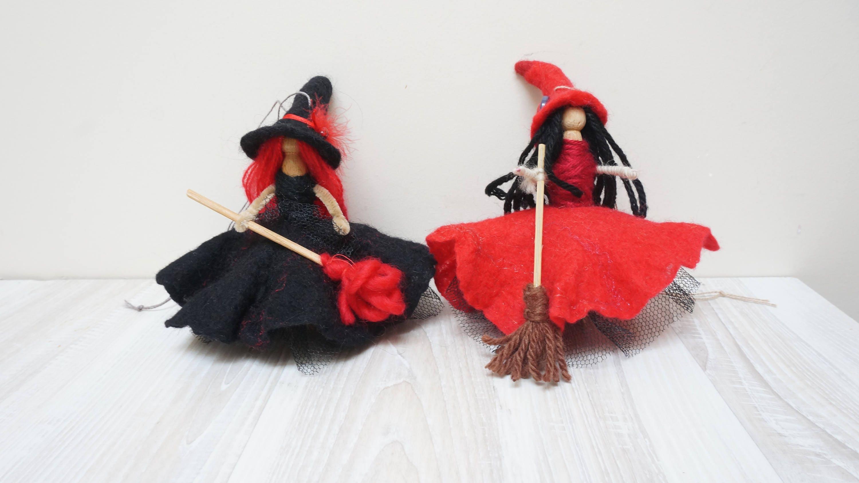Viel Glück Küche Hexe Puppe Handarbeit hängende Verzierung