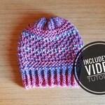 Loom Knit Romantic Hat & Cowl Pattern + Video Tutorial