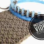 Loom Knit Diagonal Infinity Scarf / Cowl Pattern + Video Tutorial