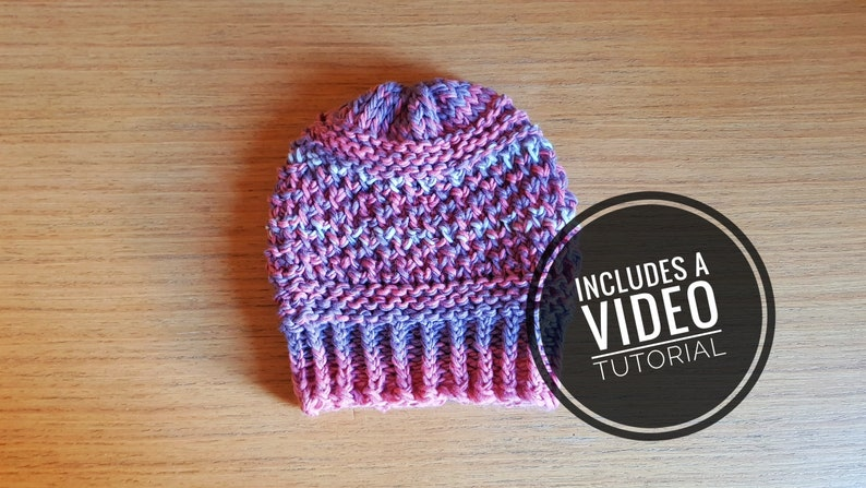 Loom Knit Romantic Hat & Cowl Pattern  Video Tutorial image 0