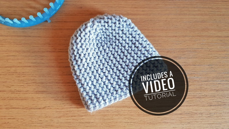 Loom Knit Fitted Cloche Hat Pattern  Video Tutorial image 0