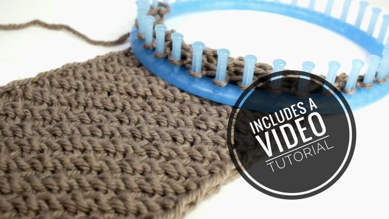 Loom Knit Diagonal Infinity Scarf / Cowl Pattern  Video image 0