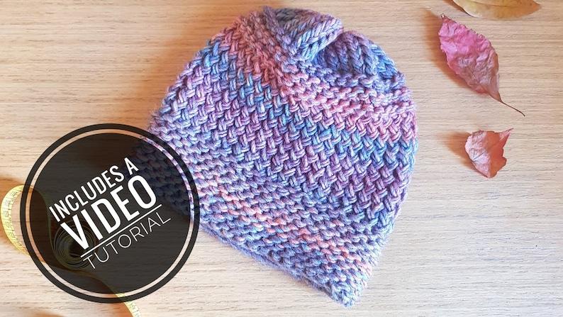 Loom Knit Fall Hat Pattern  Video Tutorial image 0