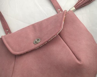 Genuine Leather Blush Pink Shoulder Bag
