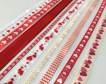 9 Rolls Christmas Ribbon Bundle 10mm 15mm 25mm Christmas Ribbons and Trimmings Christmas Ribbon for Crafts Grosgrain Ribbon Satin Ribbons Band Stripe Winter Holiday Ribbons for Gift Wrapping