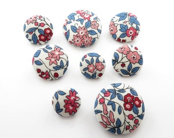 CLOSING DOWN Liberty Fabric Buttons - Forget Me Not Blossom (2pk) - 4 Sizes