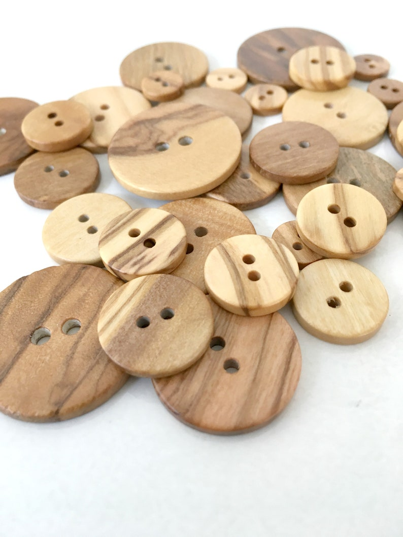 10 Black Coloured Wooden Toggle Buttons 15mm for Free UK Postage