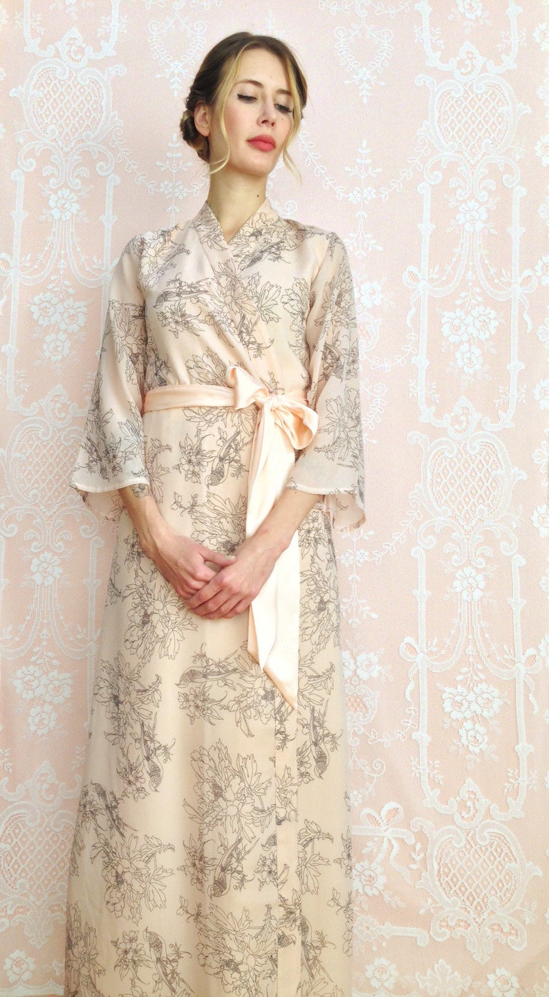 Blush of Dawn. 1 Custom Astaire style long robe in lined  283c32b4c