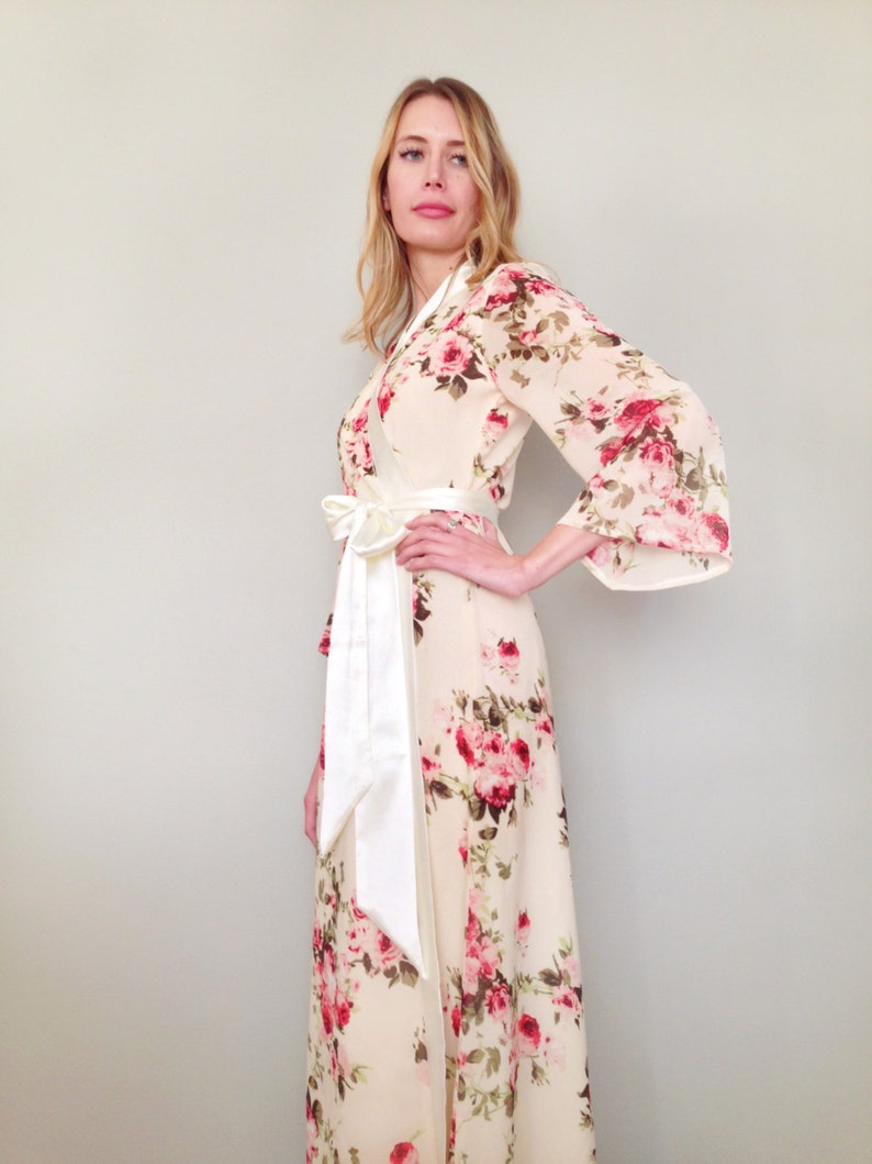 Roses by the sea Custom Astaire Style long robe in lined  a4da3208c