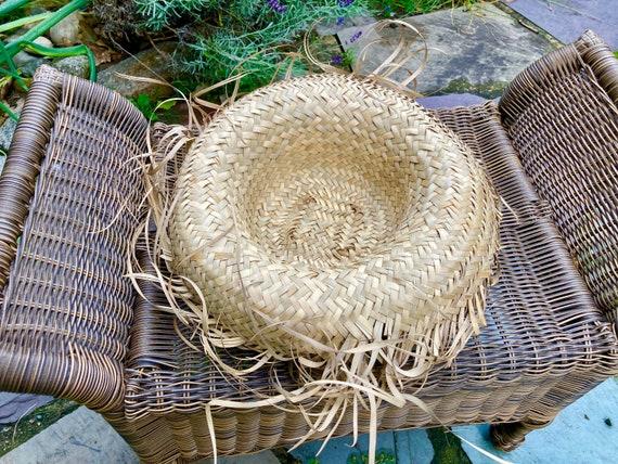 Vintage Straw Hat Scarecrow Farmer Harvest Wide B… - image 8