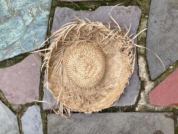 Vintage Straw Hat Scarecrow Farmer Harvest Wide B… - image 7