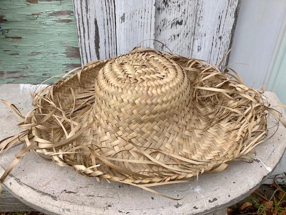 Vintage Straw Hat Scarecrow Farmer Harvest Wide B… - image 2
