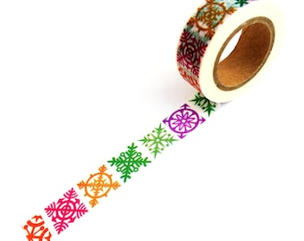 Christmas Washi Tape Snowflakes
